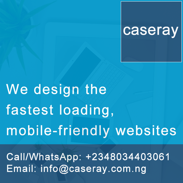 Caseray Solutions designs the fastest loading mobile friendly websites in Nigeria